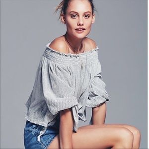 Free People Lexington Off the Shoulder Top